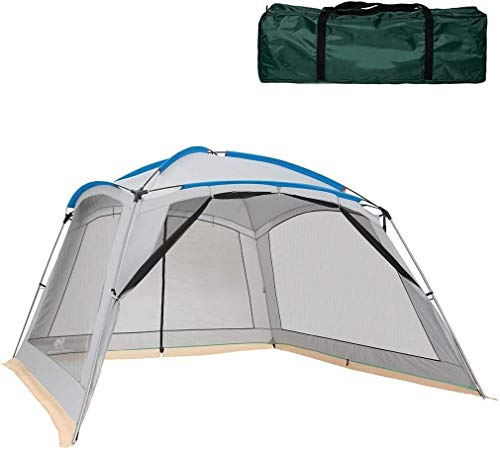 LAZ Camping Tents Pop-up Tents Large for Family 4-8 Person, Tunnel Tents for Camping Waterproof, Sun Shelters Backpacking Tents Quick Set Up, Tourism Equipment (Color : Gray+white)