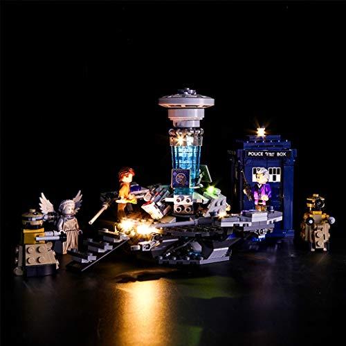 Luce Corredo Principale Compatibile con Lego 21304, Illuminazione Set per Creatore Città Dr Who Tempo-Corsa con I Blocchi da Costruzione (Dottore Impostato Solo Luce)