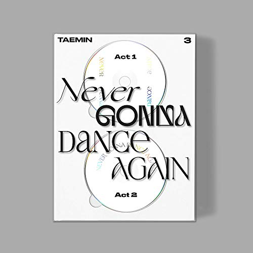 Taemin Shinee - Never Gonna Dance Again (Extended VER.) Album+Folded Poster+Extra Photocards Set