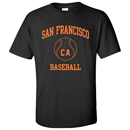San Francisco Classic Baseball Arch Basic Cotton T-Shirt - 2X-Large - Black