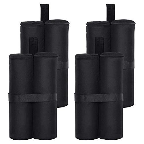 RIOGOO 4er-Pack Pavillon Sandsäcke Industriequalität Hochleistungs-Doppelgenähte Sand Tasche, Beingewichte für Pop-Up-Baldachin-Zelt Gewichtete Füße Tasche