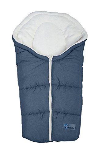 Altabebe Alpin Winter-Fußsack für Babyschale (0–12Monate, dunkelgrau/weißwaschung)