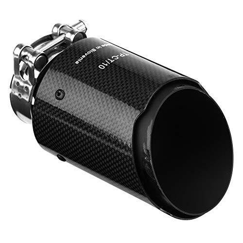Vobor Auspuff Endrohr - Carbon-Faser-Art-Auto-Auspuff-Rohr Endschalldämpfer Endrohr Endrohr Endschalldämpfer Schalldämpfer for Auto mit 60 mm Durchmesser Rohr