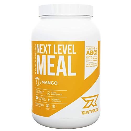 Runtime Next Level Meal - vollwertiger Mahlzeitersatz für langanhaltende Sättigung, Energie, Konzentration und Leistungsfähigkeit, mit Vitaminen und Nährstoffen (Mango)