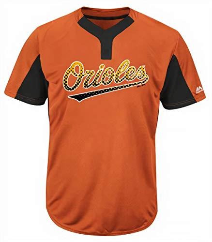 Majestic Baltimore Orioles Premier Eagle Cool Base Men's 2-Button Jersey Medium