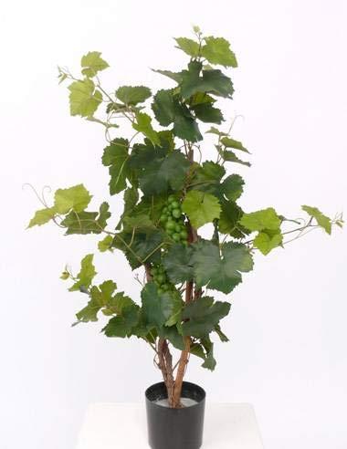 artplants.de Pied de Vigne Artificielle en Pot, 80 Feuilles, 60cm, extérieur - Vigne Plastique - Plante Artificielle