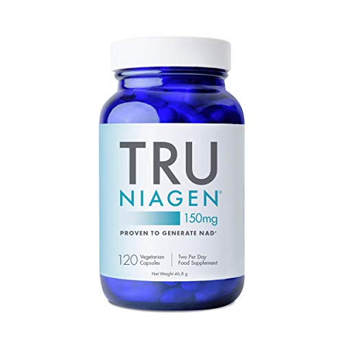 TRU NIAGEN Nicotinamide Riboside NAD+ Supplement for Reduction of Tiredness & Fatigue, Patented Formula NR is More Efficient Than NMN - 120 Count - 150mg - 300mg Per Serving (2 Months / 1 Bottle)