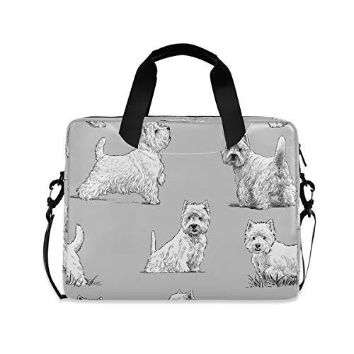 HMZXZ Funda para ordenador portátil con diseño de perro de acuarela para ordenador portátil de 13 a 14 y 15.6 pulgadas, maletín de transporte para trabajo escolar