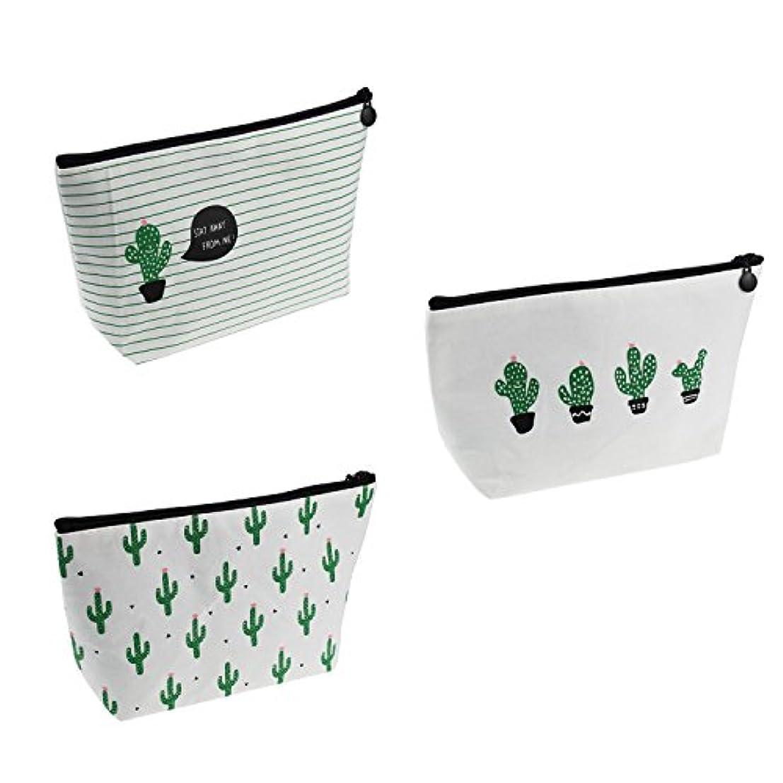 Cactus Convenient Bag Pouch Travelling Makeup Bag Bandage Canvas Case (C4)