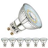 EACLL Bombillas LED GU10 2700K Blanco Cálido 5W 535 Lúmenes Equivalente 50W Halógena. Sin Estroboscópica, 120 ° Luz Blanca Cálida Spotlight LED, 6 Pack