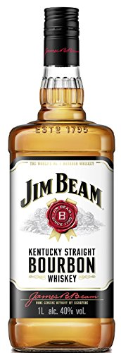 Jim Beam White Kentucky Straight Bourbon Whiskey, vollmundiger und milder Geschmack, 40% Vol, 1 x 1l