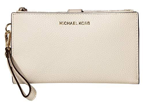 MICHAEL Michael Kors Double Zip Wristlet Light Cream One Size