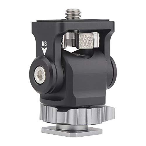 AFVO - Soporte para Monitor de cámara sin Herramientas con Zapato frío, fricción de hasta 180 °, Aluminio CNC, Color Negro