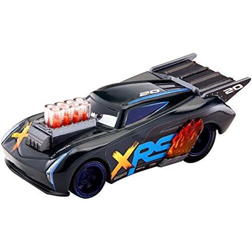 Disney Cars Drag Racing, Macchinina Jackson Storm Die Cast, Giocattolo per Bambini 3+ Anni, GFV36