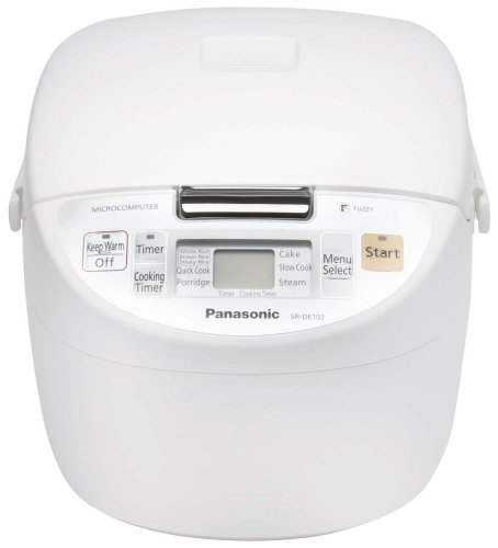 Panasonic SR-DE102 Fuzzy-Logic 5-Cup Electronic Rice Cooker/Warmer,White