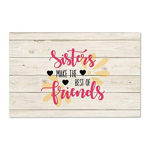 Cartello in legno con scritta 'Sisters Make The Best of Friends' (lingua italiana non garantita)