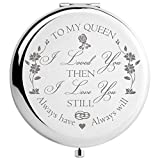 DIDADIC Wife Gifts from Husband Romantic, Women Gift Unique for Anniversary Birthday Valentines Day Christmas, Bride Gifts Engraved for Wedding Day (to My Queen)