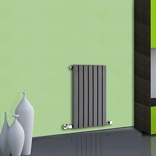 Hudson Reed Sloane Radiatore Termoarredo di Design Orizzontale Moderno - Termosifone Con Finitura Antracite - Design a Colonna Piatta - 421W - 635 x 420mm - Riscaldamento ad Acqua Calda