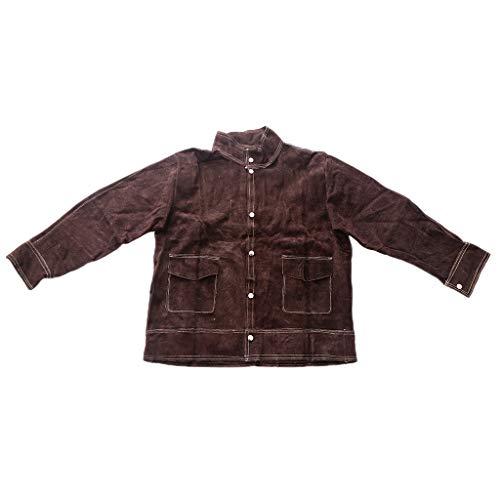 SDENSHI Hitzebeständige Schweißerjacke Aus Rindsleder. Verbrühungshemmende Schweißerbekleidung - XL Hemd