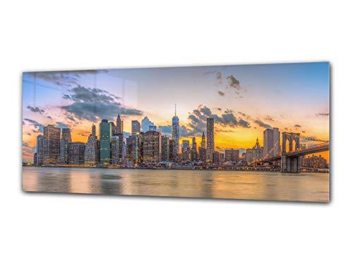 Cuadro de Cristal panorámico 125 x 50 cm – Ciudad 9