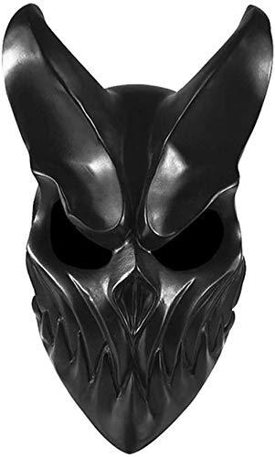 Oni Devil - Máscara de Halloween japonesa tradicional para disfraz de demonio (material de PVC con boca móvil)