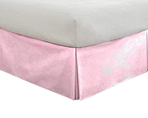 BedFantasy Tailored Bedskirt - 24 inch Drop, TwinXL, Baby Pink Bed Skirt with 800 Thread Count (Available in 22 Colors)