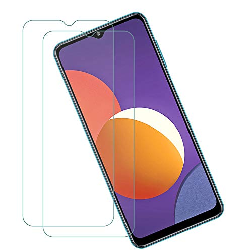 ELANG Tempered Glass Screen Protector for Samsung Galaxy M12 (6.5 inch),Case Friendly 9H Hardness HD Clear Anti-Fingerprint Film for Samsung Galaxy M12 [2-Pack]