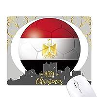 エジプトの国旗のサッカー・ワールドカップ クリスマスイブのゴムマウスパッド