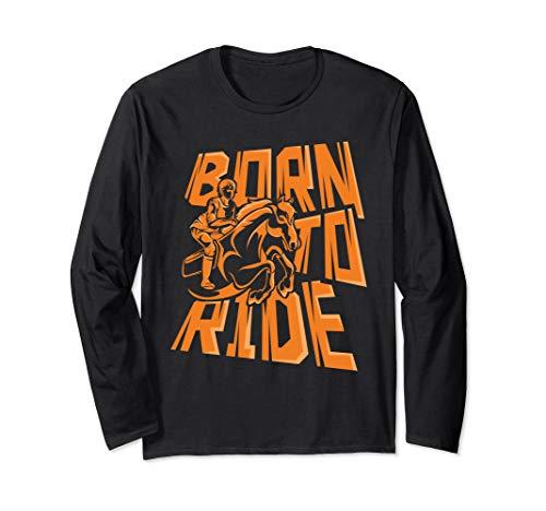 Horse Lover Pony Or Donkey Riding Horseracer Girl Long Sleeve T-Shirt