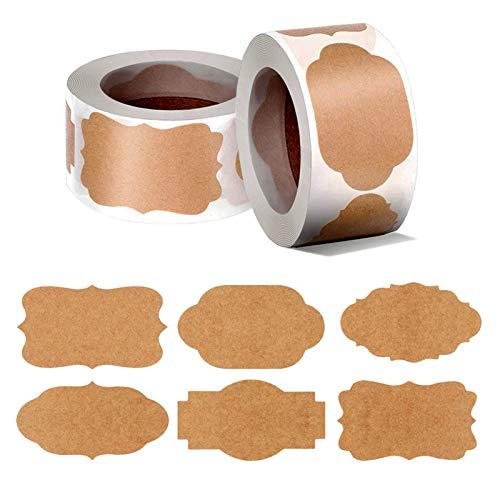 Adesivi per Etichette in Carta Kraft, 600 Pezzi di Etichette...