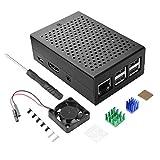 for Raspberry Pi 3B+ Case, STARTO Aluminum Alloy Metal Case for Raspberry Pi 3 B+ / 3B with Fan, Heatsink and Screwdriver