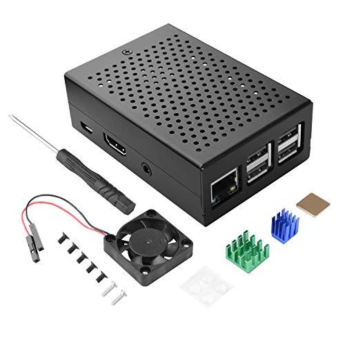 STARTO Raspberry Pi用 3B+ ケース ラズベリーパイ3 B B+用ケース 冷却ファン+ヒートシンク ラズパイ3 2 とも対応 TS10