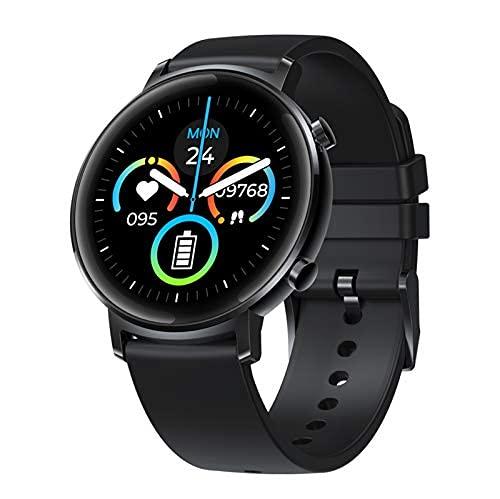 Reloj inteligente, monitor de ritmo cardíaco y sueño, contador de pasos, seguimiento de múltiples modos deportivos, podómetro impermeable de 30 m, para hombres, mujeres y niños, negro