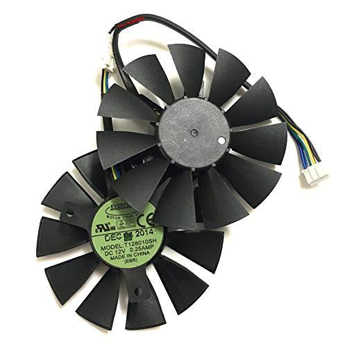 2 unids/Lote Strix R9 370 RX460 Tarjeta de gráficos Fan Vega Ventiladores DE ROOLER para ASUS GTX760 GTX1050TI EX-GTX 1050TI-4G Refrigeración de la Tarjeta de Video