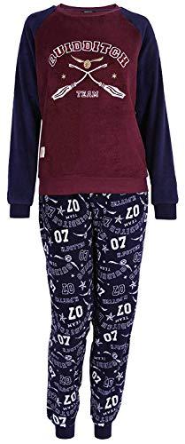 Pijama Azul Marino y Rojo Oscuro Harry Potter L