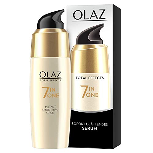 Olaz Total Effects Anti-Aging 7-in-1 Sofort Glättendes Serum 50 ml, Mit Niacinamid, Pro-Vitamin B5 Und Vitamin E