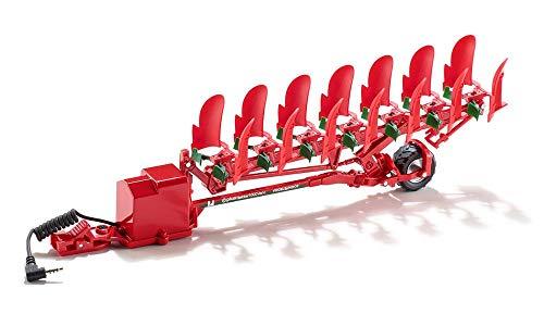 SIKU 6783, Drehpflug, 1:32, Ferngesteuert, Für SIKU CONTROL Fahrzeuge mit Anhängerkupplung, Metall/Kunststoff, Rot