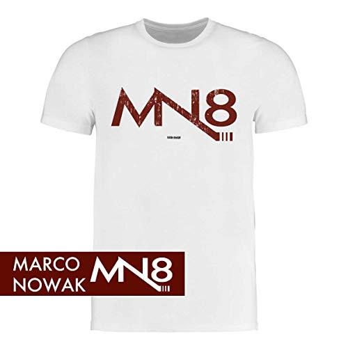Scallywag® Eishockey T-Shirt Marco Nowak #8 Logo Signature I Größen S - 3XL I A BRAYCE® Collaboration (offizielle Marco Nowak #8 Collection) (M, grau)
