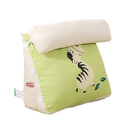 L.BAN Comfort Triangle Reading Pillow Almohada de Espalda rellena Soportes Resistentes - Cojín de sofá Cama Cojín de Lectura con Respaldo Ajustable Lavable