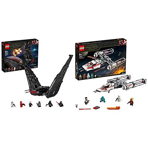 LEGO Star Wars TM - Lanzadera de Kylo REN, Set de Construcción de Nave Espacial Inspirada en La Guerra de Las Galaxias Episodio IX + Star Wars TM - Caza Estelar ala-Y de la Resistencia