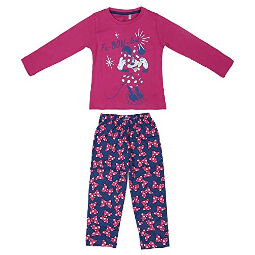Artesania Cerda Largo Minnie Conjuntos de pijama, Rosa (Rosa C08), 2 Años para Niñas