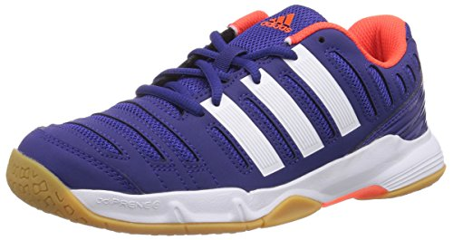 adidas Jungen Court Stabil 11 xJ Handballschuhe, Blau (Amazon Purple f14/ftwr White/solar red), 36 2/3 EU