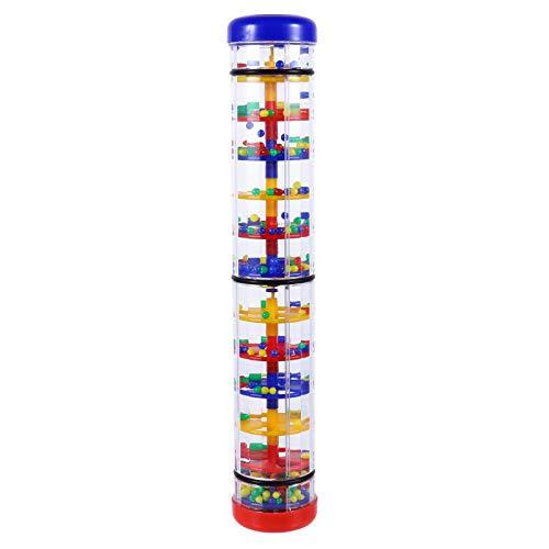 TOYANDONA Pluie Bâton Instrument de Musique Rainmaker Jouet en Plastique Bébé Hochet Jouet Pluie Son Poignée de Main Jouet pour Les Tout-Petits Et Les Enfants