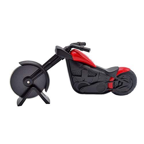 Fornateu Motorrad-Edelstahl-Kunststoff-Pizzaschneider Gebäck Motorrad-Rad-Chopper Slicer