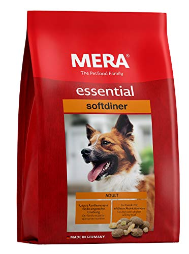 MERA essential Hundefutter > Softdiner < Für ausgewachsene Hunde mit hohem Aktivitätsniveau - Mix-Menü Trockenfutter mit Geflügel - Ohne Zucker & Konservierungsstoffe (12,5 kg)