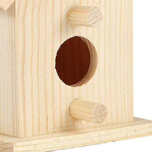 Surebuy Jaula de pájaros, pajarera de Forma única al Aire Libre para Colgante Decorativo para Balcones