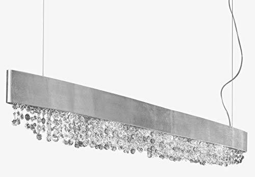 Masiero Olà Eettafellamp koper | Hanglamp dimbaar | Made in Italy - Handwerk | Hoogwaardige kristallen lamp voor eettafel | Exclusieve plafondlamp E14 | Eettafellamp modern en hoogwaardig