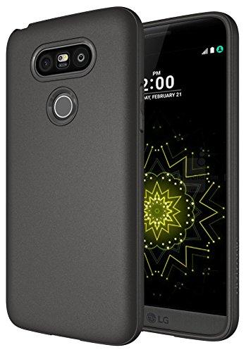 Diztronic TPU Serie slim fit Soft-Touch-dünn und flexibel Schutzhülle für LG G5, matt anthrazit grau