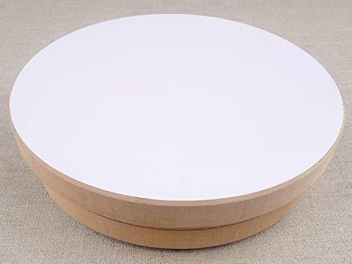Roue de potier 30 cm de diamètre, Tour de potier adulte enfant manuel pas cher debutant occasion poertie de agile hauteur 5 cm MDF platine tourne-disque pour poterie art bricolage | KUNSTIFY
