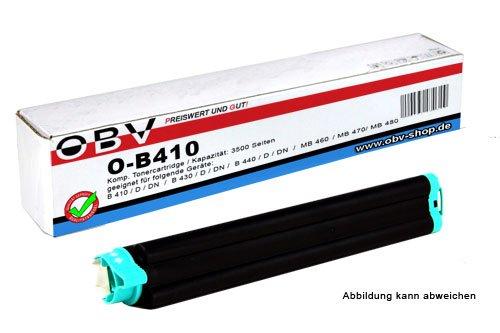 OBV kompatibler Toner B410 ersetzt OKI 43979102, Kapazität 3500 Seiten, schwarz
